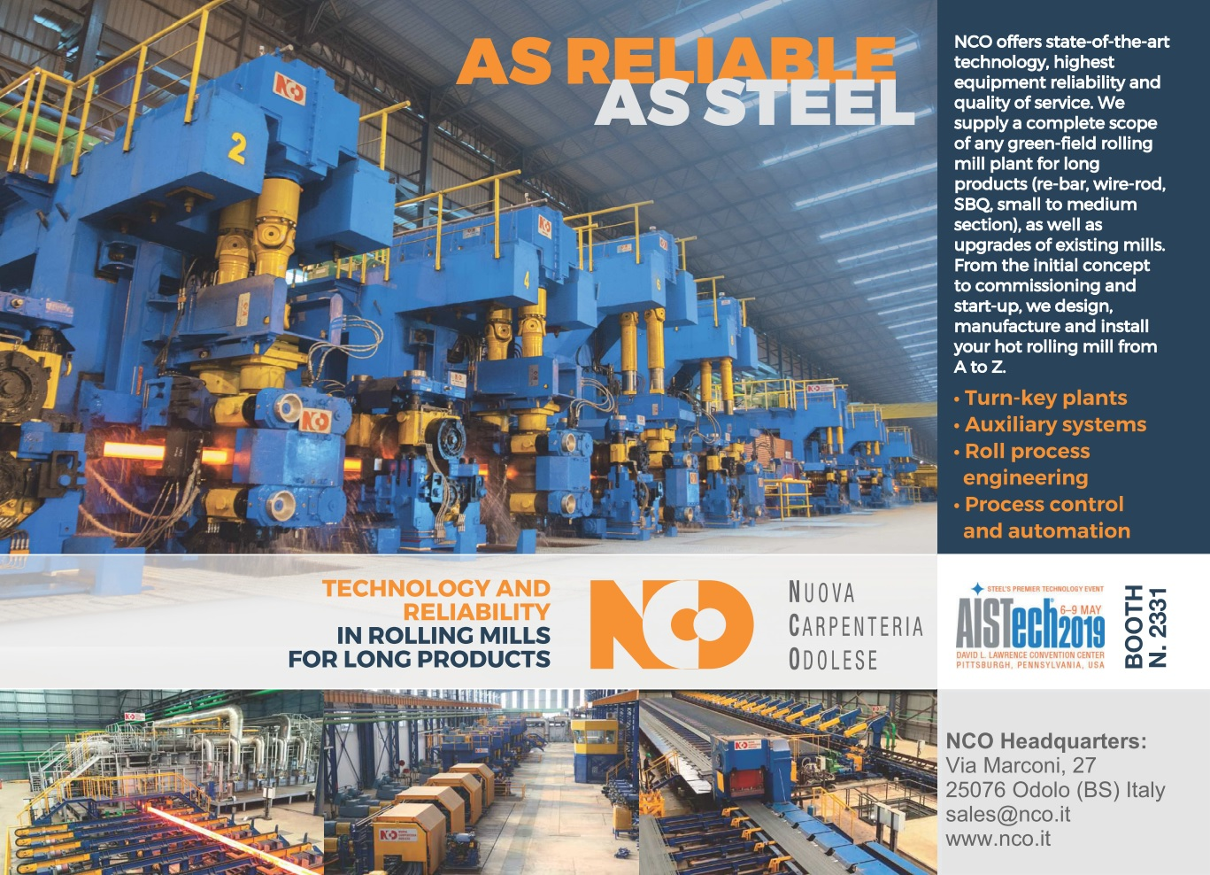 NCO Rolling Mills and the North American market